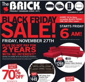 The Brick Black Friday 2015 Deals. 2-Pc. Zeke Modern Fabric Sectional