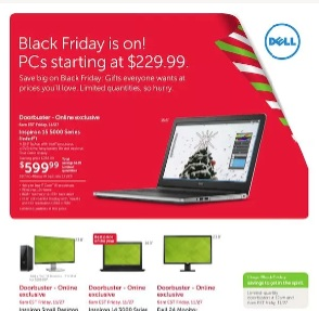 Dell Black Friday 2015 Flyer Deals. New Inspiron 15 5000 Series Advanced Laptop