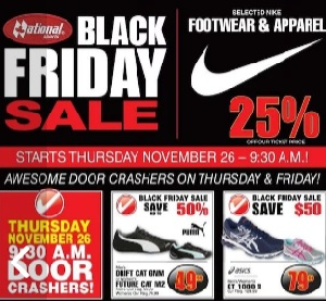 National Sports Black Friday 2015 Flyer Sales. Men's Drift Cat 6NM or Women's Future Cat M2