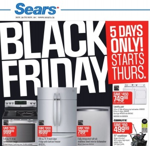 Sears Black Friday 2015 Flyer Deals. Kenmore Laundry pair