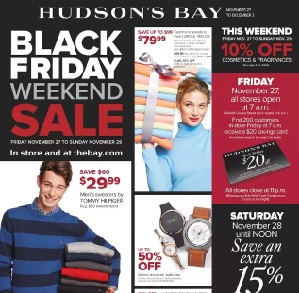 Hudson's Bay Black Friday 2015 Flyer Sales. Tommy Hilfiger Striped Sweater