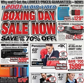2011 Audio Video Boxing Week 2015 Sales