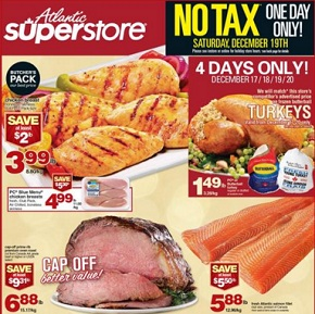 Atlantic Superstore Flyer December 17 – 24, 2015. Fresh Atlantic Salmon Fillet