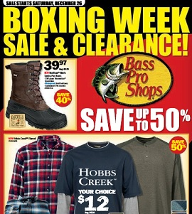 Bass Pro Shops Boxing Day 2015 Sales. Hobbs Creek Flannel