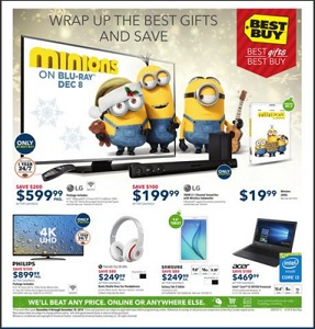 Best Buy Flyer. LG 43″ 1080p 120Hz LED Smart TV (43LF6300) – Titan