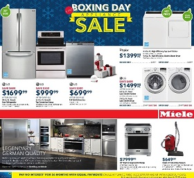 Best Buy Boxing Day 2015 Appliance Sale