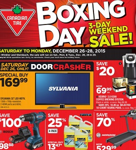 Canadian Tire Flyer December 26 – 31, 2015. Boxing Day Sale