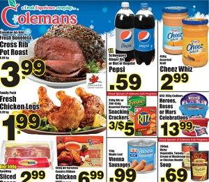 Colemans Flyer. Cross Rib Roast