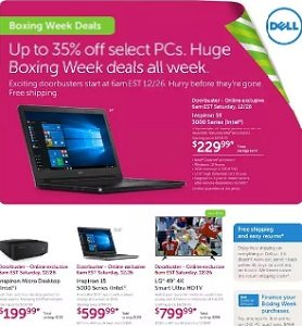 Dell Flyer December 24, 2015 – January 1, 2016. Boxing Week Deals