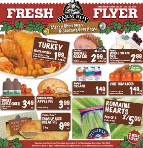 Farm Boy Flyer December 17 – 30, 2015. Merry Christmas!