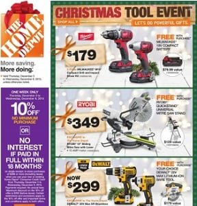 Home Depot Flyer. Milwaukee M18 Compact Drill and Impact Driver Kit