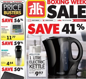 Home Hardware Flyer December 16, 2015 – January 2, 2016. Proctor Silex 1 Litre Electric Kettle