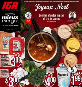 IGA Flyer December 24 – 30, 2015. Merry Christmas!