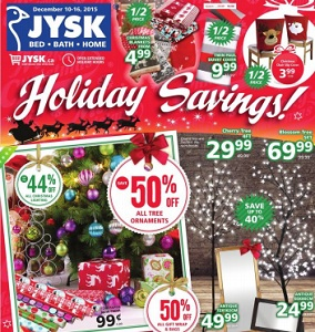 Jysk Canada Flyer. Christmas Chair Slip Cover