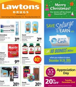 Lawtons Flyer December 18 – 24, 2015. Merry Christmas!