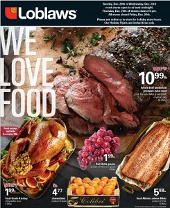 Loblaws Flyer December 18 – 24, 2015. Whole Beef Tenderloin Premium Oven Roast