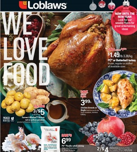 Loblaws Flyer. PC or Butterball turkey