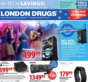 London Drugs Flyer. Panasonic Speaker System