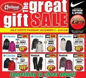 National Sports Flyer. The Great Gift Sale