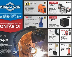 Princess Auto Flyer December 15 – 27, 2015. Pro.Point PAPR Auto-Darkening Welding Helmet System