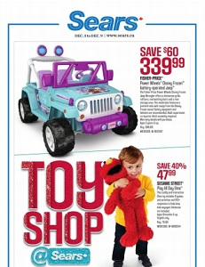Sears Canada Flyer. Fisher-Price Power Wheels Disney Frozen battery-operated Jeep