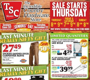 TSC Flyer December 17 – 25, 2015. Early Boxing Day Deals