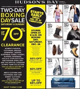 The Bay Boxing Week 2015 Sales Flyer 12/25-12/31/2015