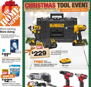 Home Depot Weekly Flyer. Christmas Tool Event