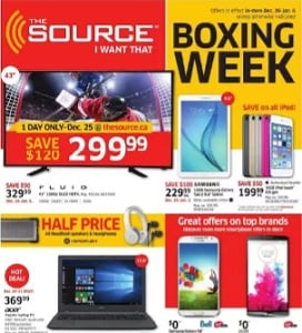 The Source Flyer December 25, 2015 – January 6, 2016. Boxing Week