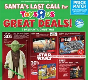 Toys R Us Flyer December 18 – 24, 2015. Santa's Last Call for Great Deals!