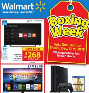 Walmart Boxing Day 2015 Sales Flyer. Element 40″ FHD Smart LED TV
