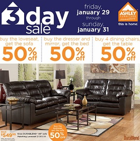 Ashley Furniture Flyer 1/27-2/2/2016
