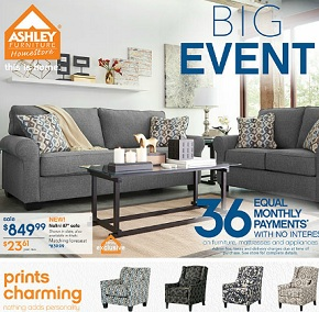 Ashley Furniture Flyer 1/7-1/27/2016