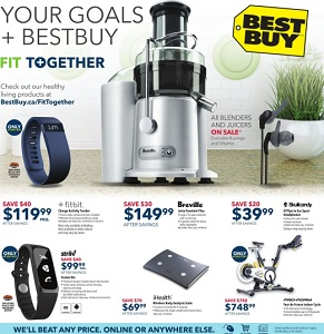Best Buy Flyer. Fitbit Charge Fitness Tracker – Large – Blue