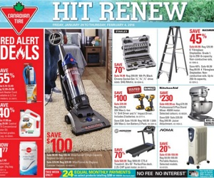 Canadian Tire Flyer January 29 – February 4, 2016. Hoover WindTunnel 2 High Capacity Bagless Upright Vacuum