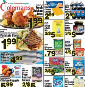 Colemans Flyer. Fresh Chicken Legs
