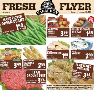 Farm Boy Flyer. Hand Picked Green Beans