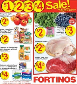 Fortinos Weekly Flyer January 8 – 14, 2016. Sale!