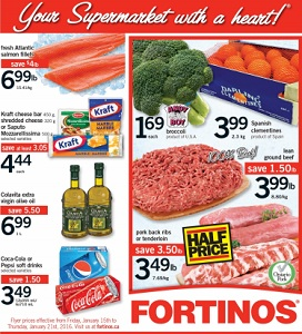 Fortinos Weekly Flyer January 15 – 21, 2016. Pork Back Ribs or Tenderloin