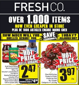 Freshco Flyer January 21 – 27, 2016. Cherries
