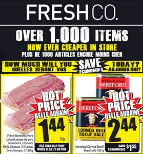 Freshco Flyer January 28 – February 3, 2016. Hereford Corned Beef