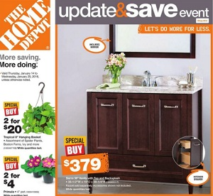 Home Depot Weekly Flyer. Sierra 36″ Vanity with Top and Backsplash