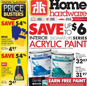 Home Hardware Flyer. Velvet Interior Acrylic Paint