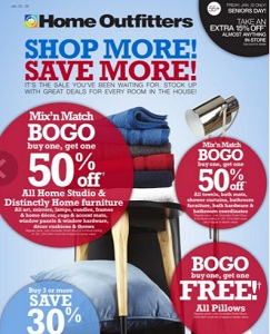 Home Outfitters Flyer. Shop More! Save More!