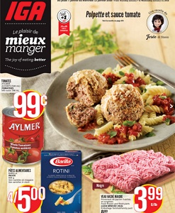 IGA Weekly Flyer. Lean Minced Veal