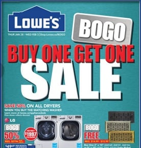 Lowe's Flyer. Buy 1 Get 1 Sale