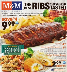 "M&M Meat Shops Flyer January 15 – 21, 2016. Max Special ""Fall Off the Bone"" Pork Back Ribs"