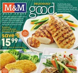 M&M Meat Shops Flyer January 8 – 14, 2016. Boneless Chicken Breasts, Seasoned & Skinless