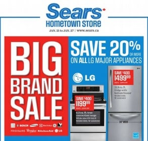 Sears Flyer. Big Brand Sale