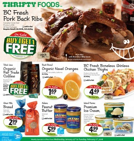 Thrifty Foods Flyer. Fresh Pork Back Ribs